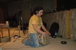 Grabando el yembe en el disco de Mercé